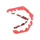 Kreslený upíří zuby — Stock vektor
