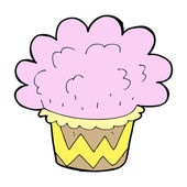 Cartoon cupcake — Stock Vector