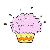 Cartoon cupcake — Vector de stock