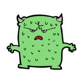 Cartoon green monster — Stock Vector