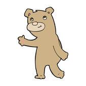 Bear walking — Stock Vector