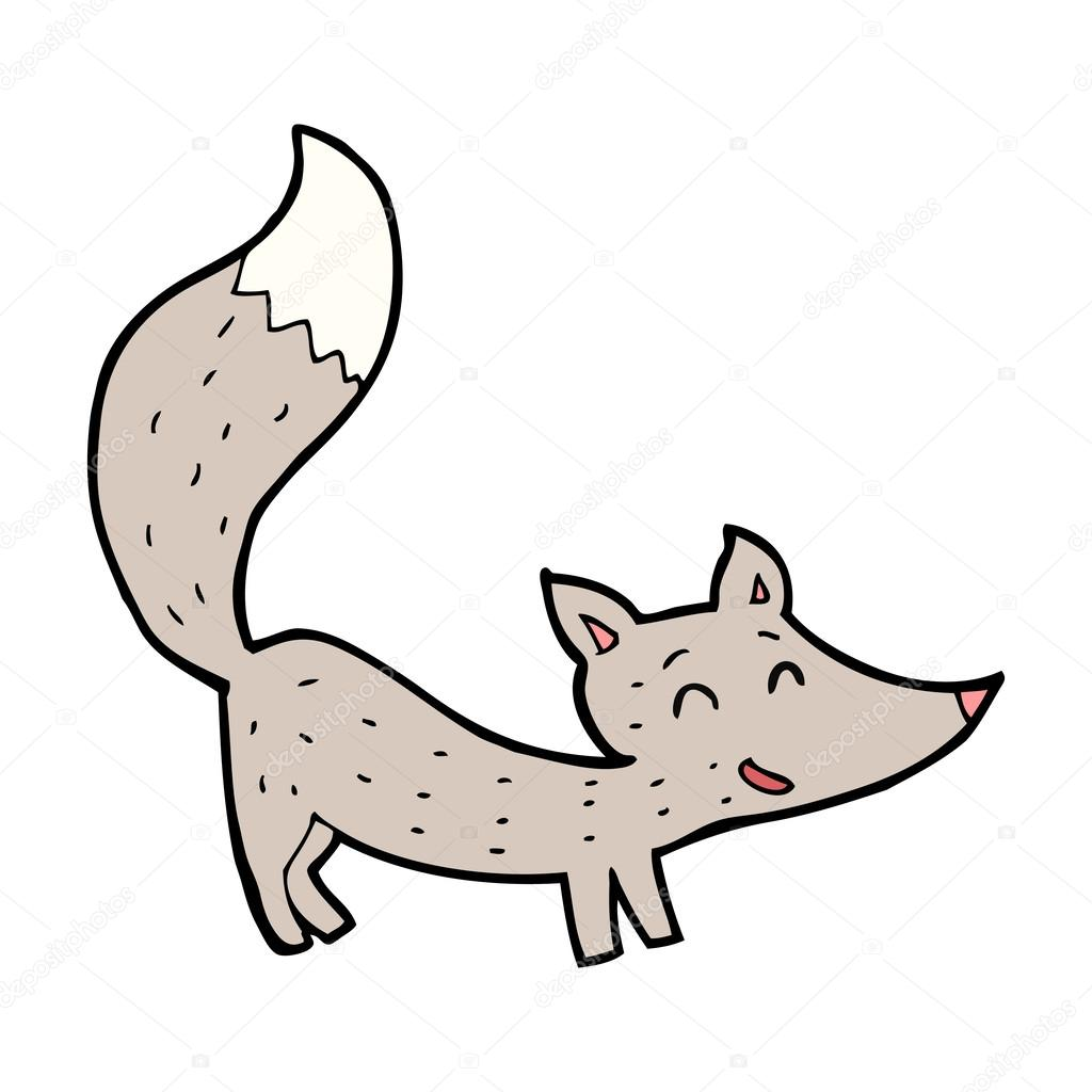 how to draw a gray fox