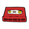 Stock Vector: Audio cassette