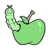 Apple en worm — Stockvector