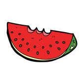Cartoon watermelon — Stock Vector