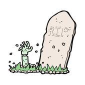 Cartoon headstone — Stock Vector