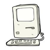 漫画のコンピューター — ストックベクタ