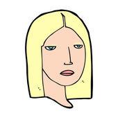 Cartoon female head — Stock Vector
