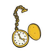 Cartoon clock — Stock Vector