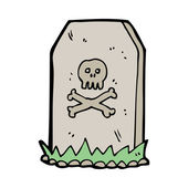 Cartoon headstone — Stock Vector