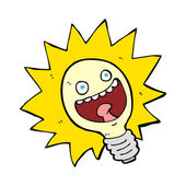 Cartoon lightbulb — Stock Vector