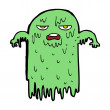 Stock Vector: Cartoon slimy ghost