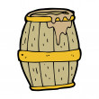 Barrel with mud — Stock Vector