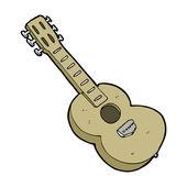 Мультипликационная гитара — Cтоковый вектор