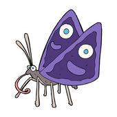 Cartoon funny butterfly — Stock Vector
