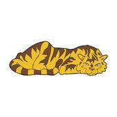 Cartoon resting tiger — Stockvektor