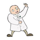 Cartoon scientist — Stock Vector