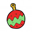 Cartoon christmas bauble — Stock Vector #38151955