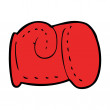 Stock Vector: Cartoon boxing glove