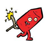 Cartoon funny firework character — Vector de stock