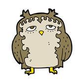 卡通聪明的老猫头鹰 — 图库矢量图片