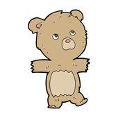 Cartoon cute teddy bear — Stock Vector