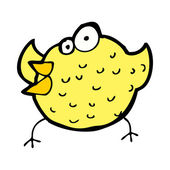 Cartoon happy bird — Stock Vector