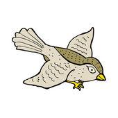 Kreskówka latający ptak — Wektor stockowy