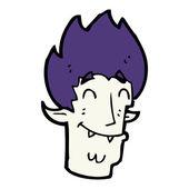 Cartoon happy vampire head — Stockvektor