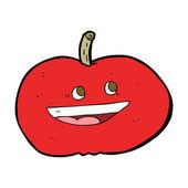 Apple feliz de dibujos animados — Vector de stock