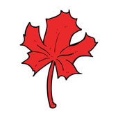Cartoon red maple leaf — Stockvektor