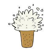 Cartoon frothy beer — Stock Vector