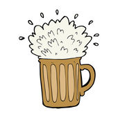 Cartoon frothy beer — Stockvektor