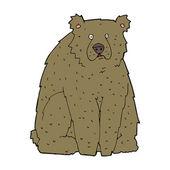 Cartoon funny bear — Stock Vector