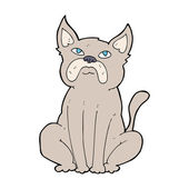Cartoon grumpy little dog — Stok Vektör