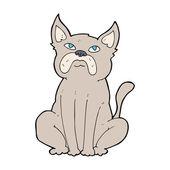 Cartoon grumpy little dog — 图库矢量图片