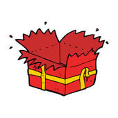 Cartoon open present — Stockvector