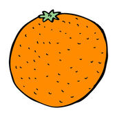 Cartoon orange — Stockvector