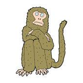 Мультипликационная обезьяна — Cтоковый вектор