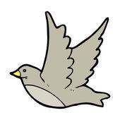 çizgi film, kuş uçuş — Stok Vektör