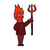 卡通恶魔与干草叉 — 图库矢量图片