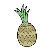 Cartoon pineapple — Vecteur
