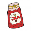Cartoon jar of jam — Stock Vector