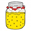Stock Vector: Cartoon honey jar