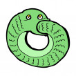 Cartoon snake eating own tail — Vecteur #38163317