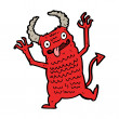 Cartoon demon — Vettoriale Stock #38165743