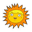 Sun cartoon character — Stock Vector