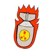 Cartoon flaming bomb — Stock Vector