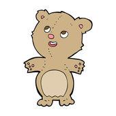 Cartoon happy little teddy bear — Stock Vector