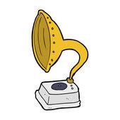 Cartoon phonograph — Stock Vector
